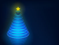 3d christmas tree. Royalty Free Stock Photo