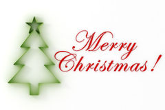 3d Christmas tree. Merry Christmas vector illustration