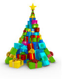 3D Christmas tree Stock Image