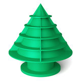 3D Christmas tree shelves and shelf. Design on a white background Stock Photo