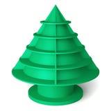 3D Christmas tree shelves and shelf. Design on a white background Vector Illustration