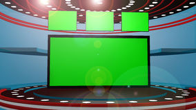 3d chroma key Stock Photography
