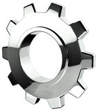 3D Chrome Gear Stock Image