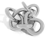 3D Chrome knot Stock Photo