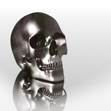 3D chrome skull Stock Photos