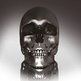3D chrome skull vector illustration