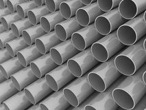 3D chrome tubes technology background. Royalty Free Stock Images