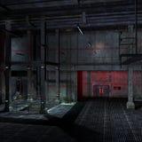 3d ciemnego miejsca straszny scifi położenie Obrazy Royalty Free