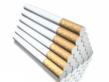 3d cigarette Royalty Free Stock Image
