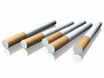 3d cigarette Royalty Free Stock Photography