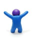 3D Cijfer van de Mens van de Plasticine van het succes Stock Afbeelding