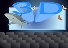 3D - Cinema Royalty Free Stock Photo