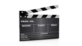 3d cinema clapboard. On white background Royalty Free Stock Image