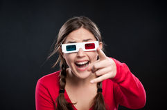 3D cinema experience Royalty Free Stock Photo