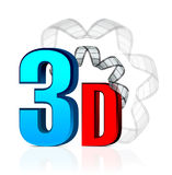3D Cinema with film strip Stock Photos