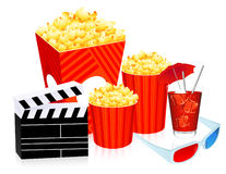3D cinema objects royalty free illustration