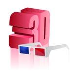 3d cinema theatre glasses Stock Image