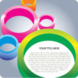 3D Circle Background. 3D Color Circles Background Fro Poster And Brochure Royalty Free Stock Photos