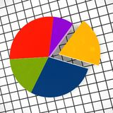 3d circle diagram. Circle diagram - 3d multicolor illustration Royalty Free Stock Photo