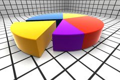 3d circle diagram. Circle diagram - 3d multicolor illustration Royalty Free Stock Photography