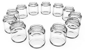 3d circle of empty jars Stock Photography