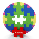 3d circle puzzle solution Royalty Free Stock Photo