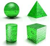 3D Circuits Stock Image