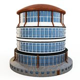 3d circular building generic Royalty Free Stock Photo