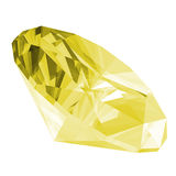3d Citrine Gem Isolated Royalty Free Stock Photo