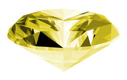 3d Citrine Gem Isolated Royalty Free Stock Images
