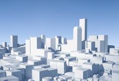 3D City. Conceptual image of 3D city stock illustration