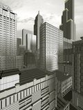3D city. A new york city made by 3D