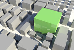 3D City Royalty Free Stock Images
