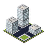3D city block. Vector city block on a white background Royalty Free Stock Images