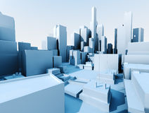 3d city landscape Stock Photo