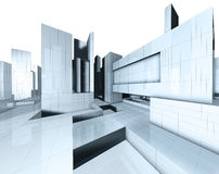 3d city map. 3d image of city map vector illustration
