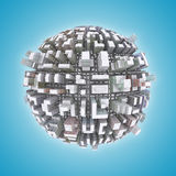3d City planet. Urban concept Royalty Free Stock Image