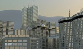 3d city skyline Stock Photo