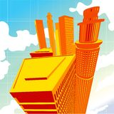 3D City Vector Sector Royalty Free Stock Images