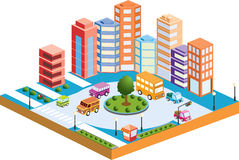 3D city3 Royalty Free Stock Photos