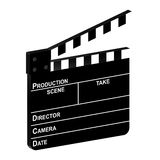 3D clapper board. 3D movie clapper board on a white background. Vector illustration Royalty Free Stock Photography
