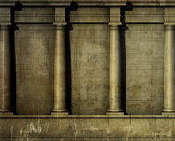 3d classic architecture Greek Roman wall render Stock Photography