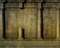 3d classic architecture Greek Roman wall render Royalty Free Stock Images