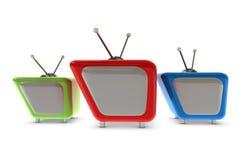 3d classic tv Royalty Free Stock Photos