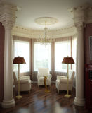 3d classical interior. 3d render of a classical interior design royalty free illustration