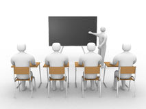 3d classroom with teacher. Royalty Free Stock Photography