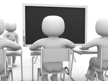 3d classroom with teacher Royalty Free Stock Images