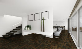 3d clay render of a modern interior Royalty Free Stock Photo