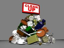 3D clean up Stock Photography