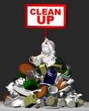 3D clean up with midden Stock Photo